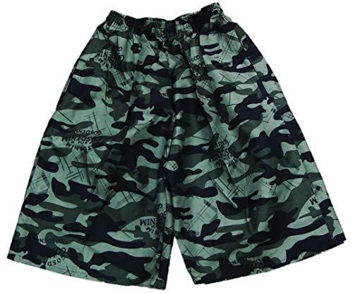 Leuke jongens camouflage lange zwembroek in de maten 158-188