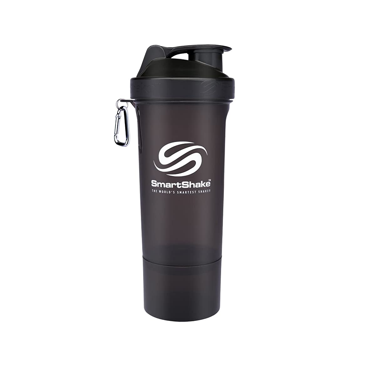 お酒安心させる強打SmartShake Slim(スマートシェイク スリム) BLACK 500ml 多機能プロテインシェイカー