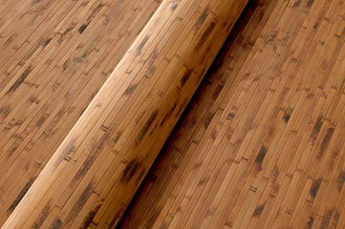 Bambus Wandverkleidung - Exotischer Rollbelag aus echten Bambuslatten (Höhe: 150 cm / 1 Stk. = 1 Meter, Vintage Design)