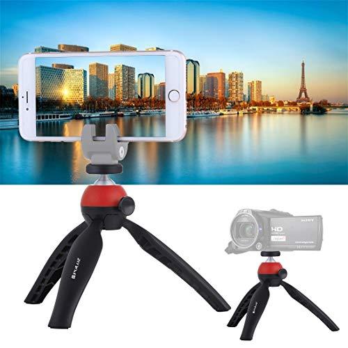 Linxiucen Nuevo Bolsillo Mini trípode con rótula de Bola de 360 Grados for teléfonos Inteligentes, GoPro, cámaras DSLR (Azul) (Color : Red)