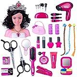 HYMAN Schmink Frisierköpfe Spielzeug, 36 St. Kinder Rollenspiele Puppe Styling Kopf Spielzeug mit Fön