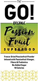 Young Scent The GO! Organic Freeze-Dried Fruit Powder Infused with Fruit Vinegar | Fibers & Prebiotics | Detox | Weight Loss 10 Calories 0.11 oz Packet (Passion Fruit, 21 Count)