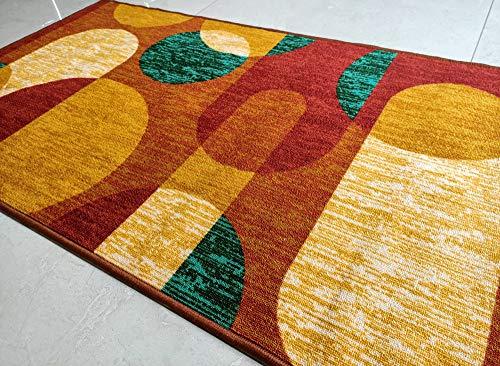 Geometrievormen Vloerbedekking Polyester slipvrij tapijt voor Huishoudkamerbedekkers vloerbedekkingen 150 x 80 cm