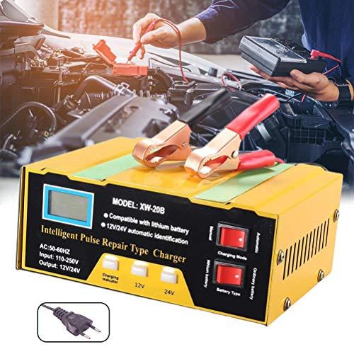 BSTQC 10A 12V / 24V del Coche Cargador de batería de la batería de Coche Cargador rápido Ajustable automático Inteligente Cargador de Coche Cargador de batería