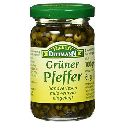 Feinkost Dittmann Grüner Pfeffer mild-würzig eingelegt, 100g