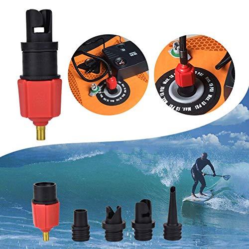 Mooderff Opblaasbare adapter voor Schrader-ventielen, ventieladapter, kano, luchtpomp voor auto padddle board, rubberboot Storboot opblaasbaar bed