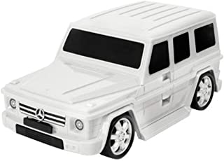 Lucky Planet Kids Lightweight Mercedes Benz G Wagon Kids Carry-on Hand Luggage Suitcase, White