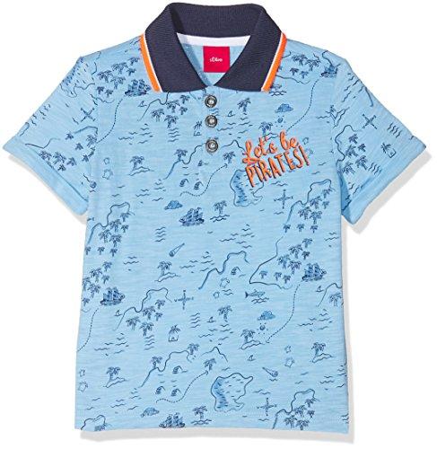 s.Oliver s.Oliver Baby-Jungen 65.804.35.5144 Poloshirt, Blau (Light Blue AOP 53a7), 74