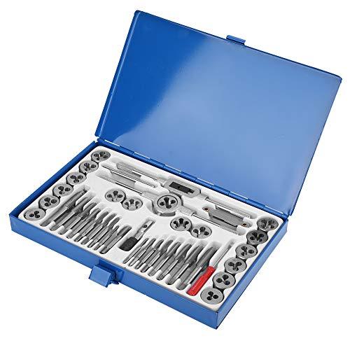 Juego de herramientas de mano de roscado de acero de aleación 40 piezas Juego de troqueles de roscado Tornillos de máquina Rosca de alta dureza para electricista