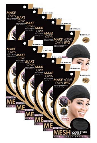 (12 Pack) Qfitt - Mesh Dome Style Wig Cap #5011 by Qfitt