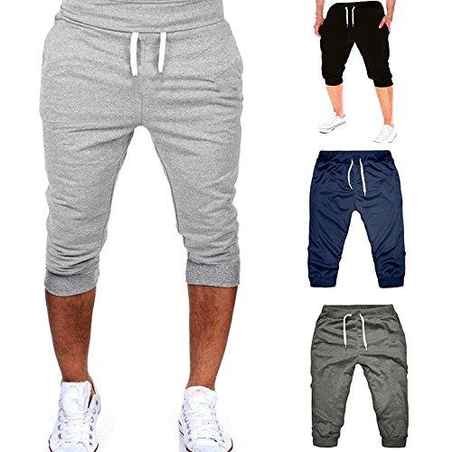 Pantaloncini Palestra Uomo Bodybuilding Pantalone Corto da Running Jogging Shorts Uomini Cotone Pantaloncino Sport Pantalone Tuta Uomo Sportive da Allenamento Elastici Casual Bermuda Mare