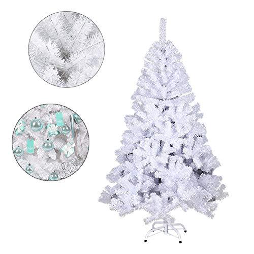 Hengda Weihnachtsbaum 1,8m Weiß Tannenbaum Einzigartiger Künstlicher Kunstbaum Weihnachtsdeko schwer entflammbar für den Weihnachtsdekoration