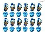 Acobonline 12 Piezas, Pinza madera bautizo de niño, Ideal para Comunión,Bautizo,Boda,Recuerdos,Cumpleaños,Fiesta,Viaje,Invitadas-Baby (Azul, Maceta)