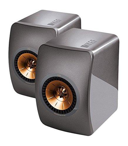 KEF LS50Lautsprecher–Lautsprecher (Universal, 2-Wege, Tisch/Regal, 100W, 47–45000Hz, 8Ohm) Titanium