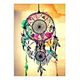 Diy Oil Painting Paint By Number Kit, Paint By Numbers Drawing with Brushes Paint, Suitable for All Skill Levels 16X20Inch -Watercolor Dream Catcher Wind Chimes
