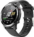 Smart Watch, 1.28 'Rastreador De Actividades, Rastreadores De Fitness con Monitor De Ritmo CardíAco, Smartwatch Ip67 Impermeable, Sport Smartwatch Compatible (Negro)