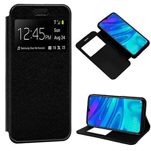 iGlobalmarket Funda Flip Cover Tipo Libro con Tapa para Huawei P Smart (2019) / Honor 10 Lite Liso Negro