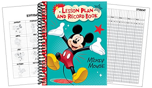 Eureka Mickey Mouse Back to School Classroom Supplies Record and Lesson Plan Book for Teachers, 8.5'' x 11'', 40 Weeks
