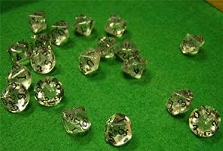 Stone Dice Quartz Crystal 10 Sided 12mm (10)