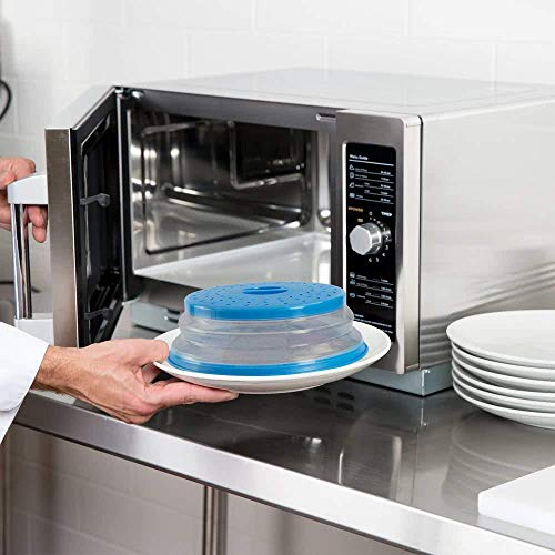 Nifogo Mikrowellen Abdeckung 27CM spülmaschinenfest,Faltbare Mikrowellenabdeckhaube,Frisches,Essen,Obstkorb,Gemüsewaschbecken,BAP-frei und ungiftig (Blau)