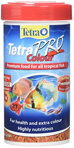 Tetra Pro Colour Fish Food, Complete Premium Fish Food for All Tropical Fish and Extra Colour, 250 ml