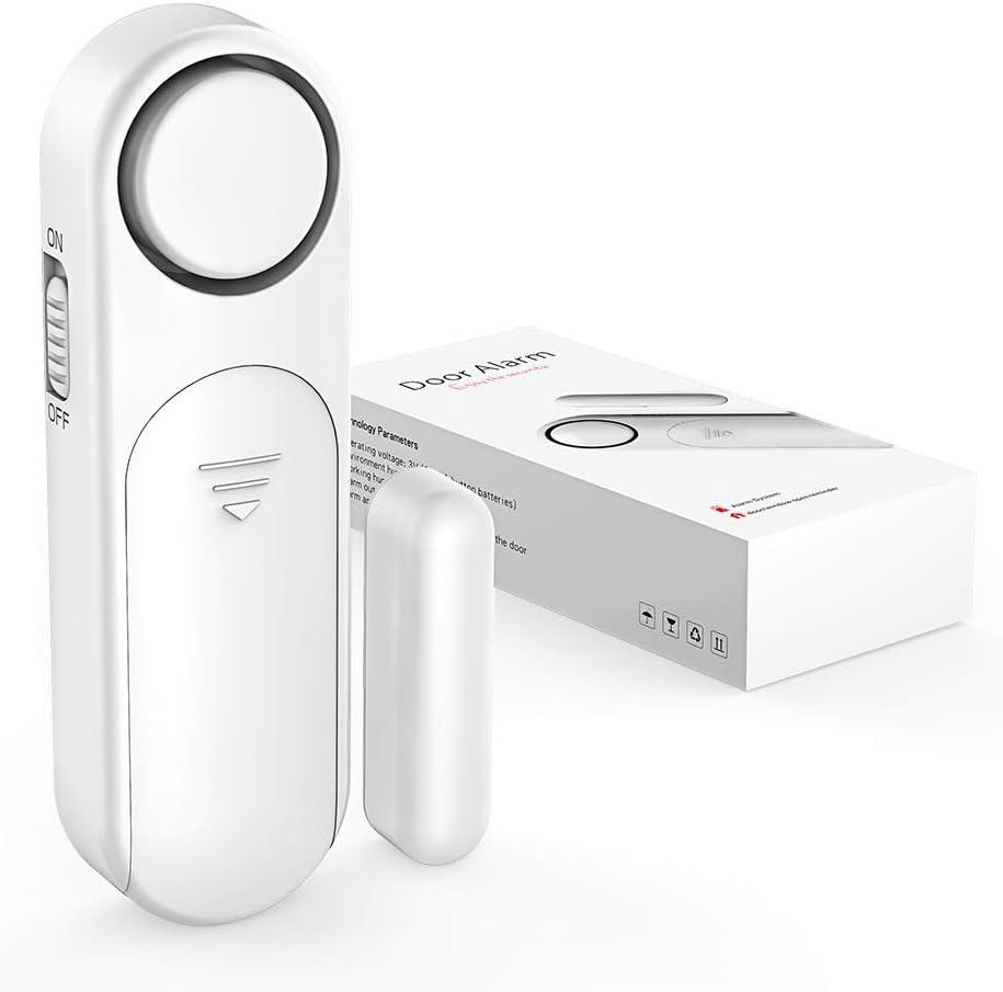 Door Sensor Alarm, Door Sensor 120dB Wireless Window Alarm 4 Alarms Modes Burglar Anti-Theft for Kids Safety Home Shop Security