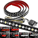 AMBOTHER 5-Function 48'/49' Truck Tailgate Side Bed Light Strip Bar 3528-72LED Waterproof IP67, Turn Signal, Parking, Brake, Reverse Lights for Trailer Pickup Jeep RV Van Dodge Ram Chevy GMC Red/White