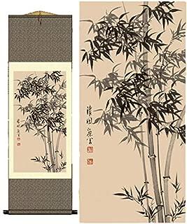 Grace Art Asian Wall Scroll, Bamboo