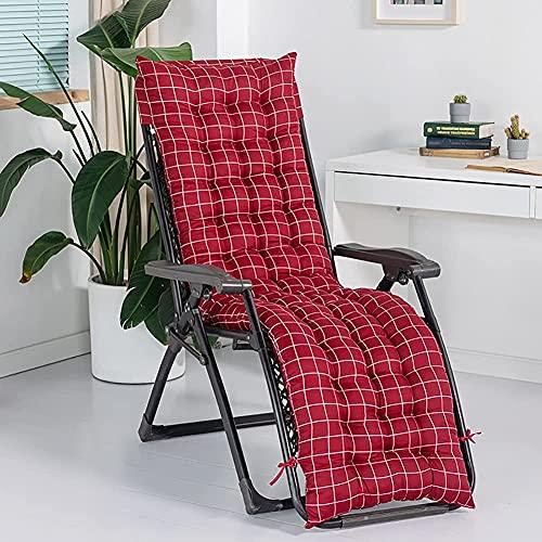 XCTLZG Cojines antideslizantes para tumbona con capucha de fijación, almohadillas para silla de salón para interiores y exteriores, viajes, jardín, cómodo y grueso