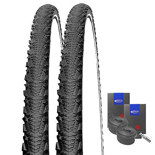 Set: 2 x Schwalbe CX Comp Reflex Cross Reifen 40-622 / 28x1.50 + Schwalbe Schläuche Dunlopventil