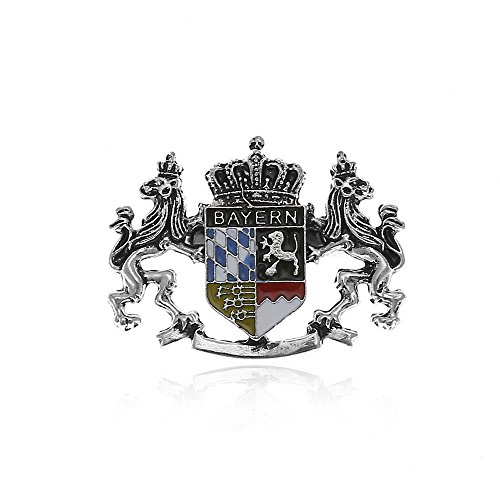 Alpenklunker Brosche Anstecker Bayern Löwe Wappen Hutschmuck Hutnadel Wiesn Oktoberfest schmuckrausch