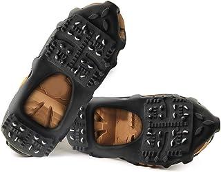 2 par isklikar dragskor för stövlar skor män kvinnor barn halkskydd spikskor is dubbar snö dragkraft dubbar kramponger