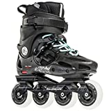 Rollerblade Twister 80 2017 Urban Twincam ILQ 7 Plus Bearings Inline Skates, Black/Light Blue, US Women's 6