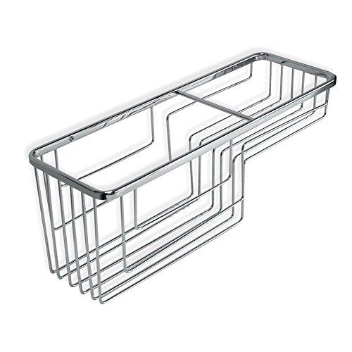 Tatay Cestillo Rectangular Krom, Dos Niveles, diseño Funcional y Gran Capacidad, Fabricado en latón Cromado y Acero INOX