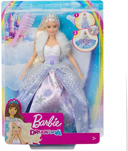 Barbie Dreamtopia Princesse aux Flocons poupée bébé poupée Enfant, Blanc/Violet