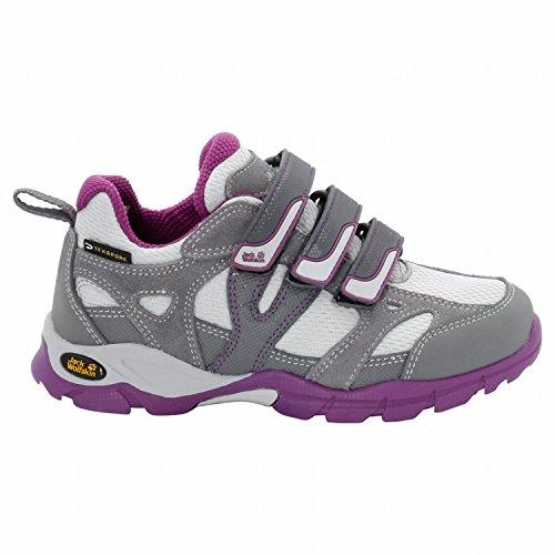Jack Wolfskin Girls Volcano LOW Texapore VC - Mallow Purple - EU 39 / UK 5.5 / US 6.5 - Wasserdichter atmungsaktiver Mädchen Wanderhalbschuh