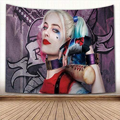 Tapiz para colgar en la pared de Harley Quinn, tapices decorativos para fiestas en el hogar, tapiz de fondo para fotos, tapiz de pared, 150x100cm