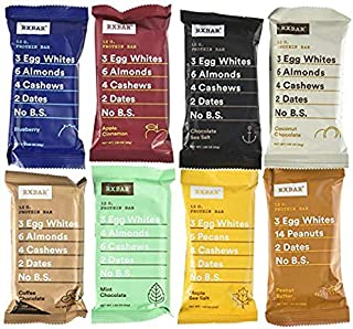 RXBAR Whole Food Protein Bar, Variety Pack of All 7 Delicious Flavors (Pack of 24)