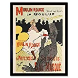 Toulouse-Lautrec Dancer La Goulue Moulin Rouge Advert Art