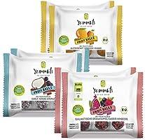 Yammbits Fruchtkugeln 2x Aprikose/Granatapfel/Kokos(6x 70g)   100% Frucht, 0% Zuckerzusatz aus Bio-Früchten   Gesunde...