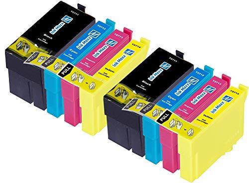 Ink Maxx – Cartucho de tinta refabricado para usar en lugar de Epson 27XL (/ / / pack de 8)