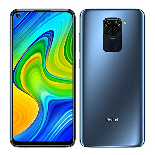 "Xiaomi Redmi Note 9 Smartphone 4GB 128GB, 48MP Quad Camera, 6.53""FHD + DotDisplay, 5020 mAh, 3.5mm Headphone Jack NFC, Gris [European version]"