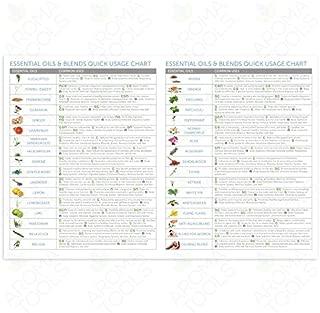 foot reflexology & oil usage chart