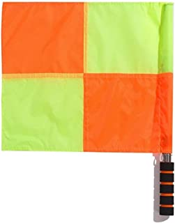 Xeminor Soccer Referee Flag Waterproof Referee Linesman Flag Signal Flag Football Match Competition Referee Equipment 1 Pcs