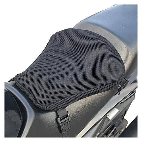 Xu-wang123 Motorcycle Air Bag Inflatable 3D Seat Cushion Breathable Non Slip Shock Absorption Seat Motorcycle Accessories (Color : Black)