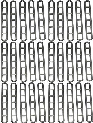 BITS4REASONS Spanngurte für Wohnwagen-Vorzelt, aus Gummi, 30 Stück