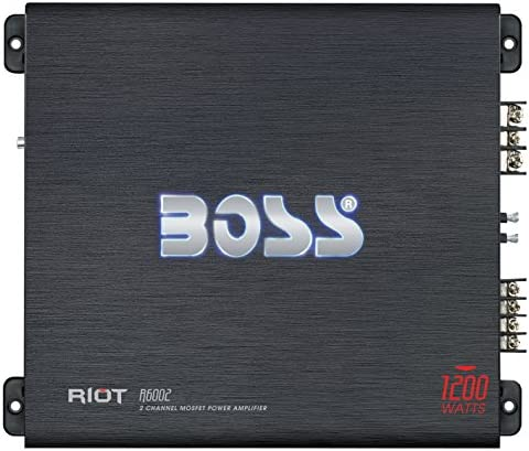 BOSS Audio Systems R3004 4 Channel Car Amplifier - 1200 Watts, 2/4 Ohm Stable, Class A/B, Full Range, Bridgeable, MOSFET Power Supply, Remote Subwoofer Control