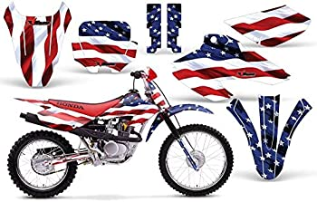 AMR Racing MX Dirt Bike Graphics kit Sticker Decal Compatible with Honda XR80 XR100 2001-2003 - Stars and Stripes
