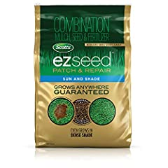 Combination mulch, seed, and fertilizer specially designed to grow grass anywhere, including sun and dense shade, guaranteed (subject to proper care) Mulch: Absorbs 6x its weight in water and expands to surround the seed in a moist protective layer G...