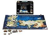 4D CITY SCAPE- RompecabezasPuzzles encajables y rompecabezas4D City SCAPEGame of Thrones Westeros and Essos, Multicolor (1000)